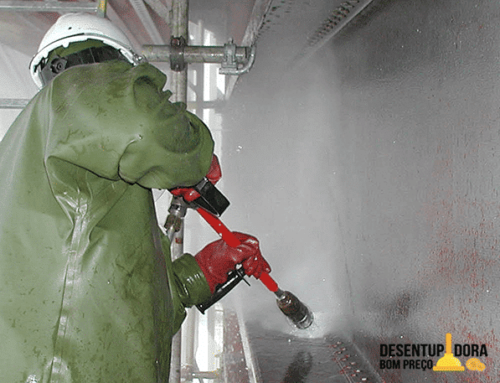 Hidrojateamento pode ser aplicado em diversos processos